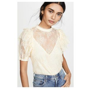 FREE PEOPLE - NWT Secret Admirer Lace Top - Eggnog